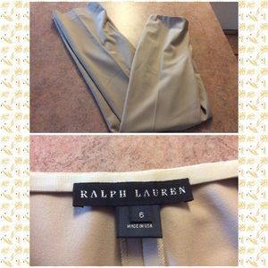 Ralph Lauren black label beige trousers